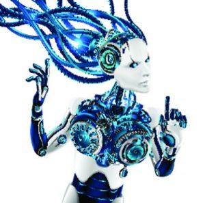 Robot femminile: immagine tema giochi di ruolo Sci-Fi