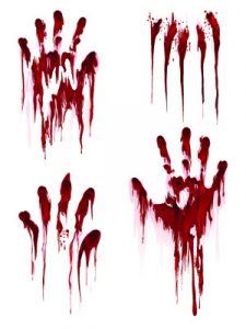 Mani insaguinate - tema giochi di ruolo Horror