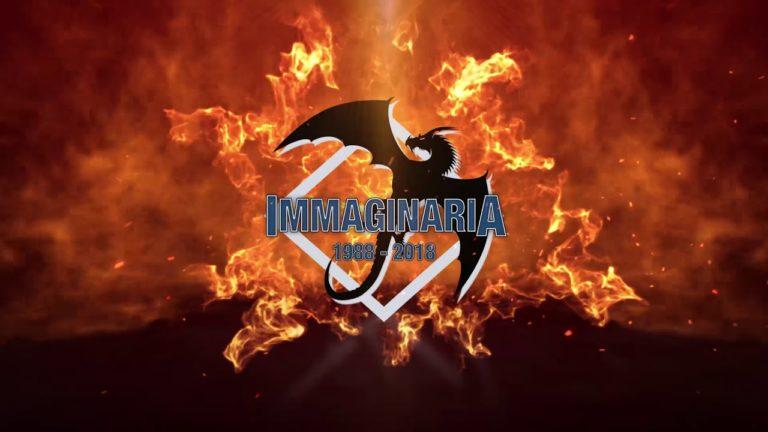 Logo di Immaginaria con esplosione